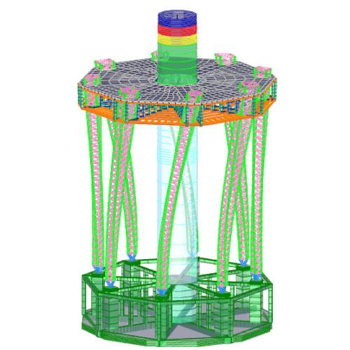 Finalizado con éxito el nuevo diseño de cimentación eólica marina
