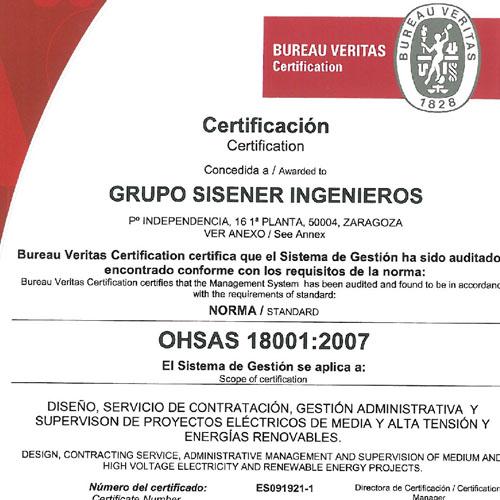Certificación en OHSAS 18001:2007